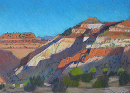 Plein-air pastels of the Southwest landscapes, Scotty Mitchell